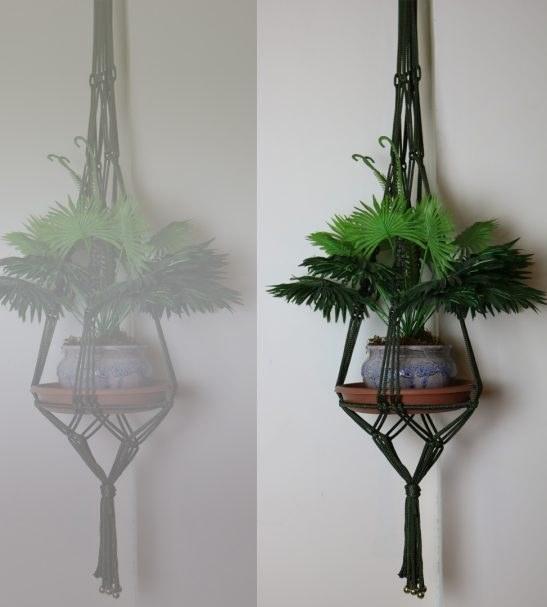 آویز گلدان مکرومه یک طبقه