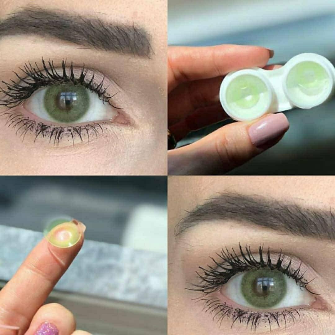 تصویر لنز چشم سالانه هرا رنگ سبز یخی  شماره SBA130