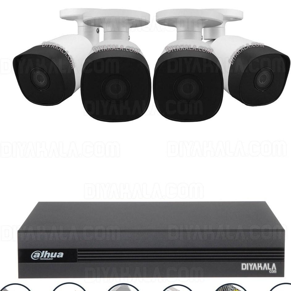 عکس پکیج دوربین مداربسته داهوا B121-C4 DAHUA CCTV kit B121-C4 پکیج-دوربین-مداربسته-داهوا-b121-c4