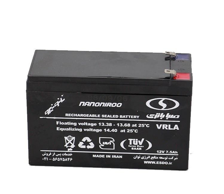 تصویر باتری خشک 12 ولت 7.5 آمپر