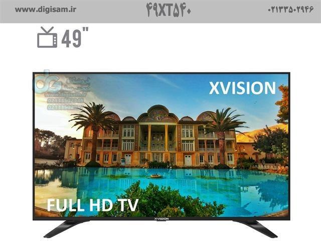 تصویر تلویزیون ال ای دی ایکس ویژن مدل 49XT540 سایز 49 اینچ
