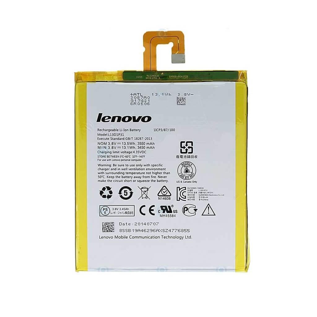 تصویر باتری تبلت مدل L13D1P31 با ظرفیت 3550 میلی آمپر مناسب برای تبلت لنوو IdeaTab A3500 L13D1P31 3550mAh Tablet Battery For Lenovo IdeaTab A3500