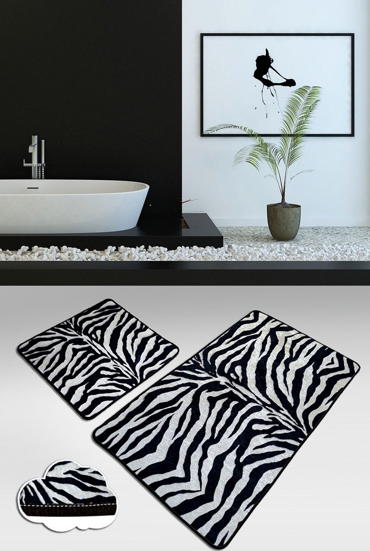 تصویر زیرپایی حمام فرش ست قابل شستشو کف لیز نمیخورد 2تکه برند Chilai Home کد 1617720569