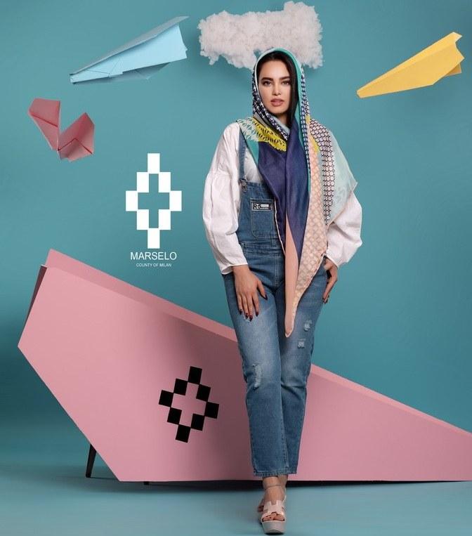 روسری زنانه مارسلو مدل نخ توییل۴ کد:۱۰۴۰  