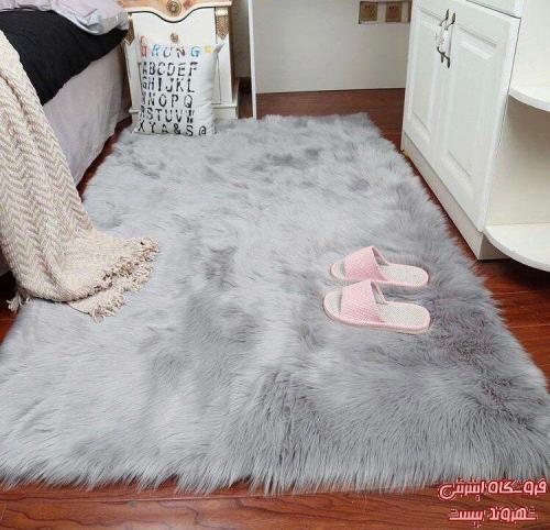 فرش خز رنگ طوسی | کدکالا 3805