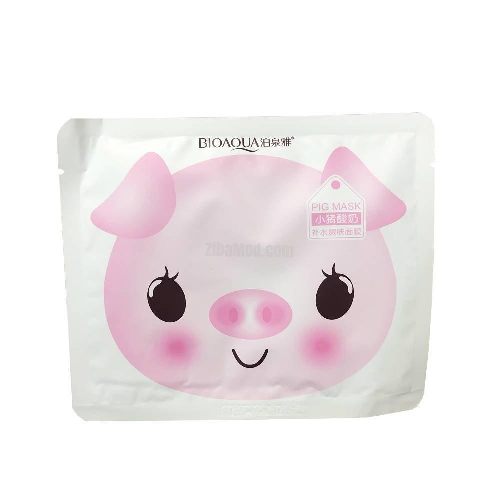 تصویر ماسک ورقه صورت بیوآکوا مدل PIG حجم 25 گرمی