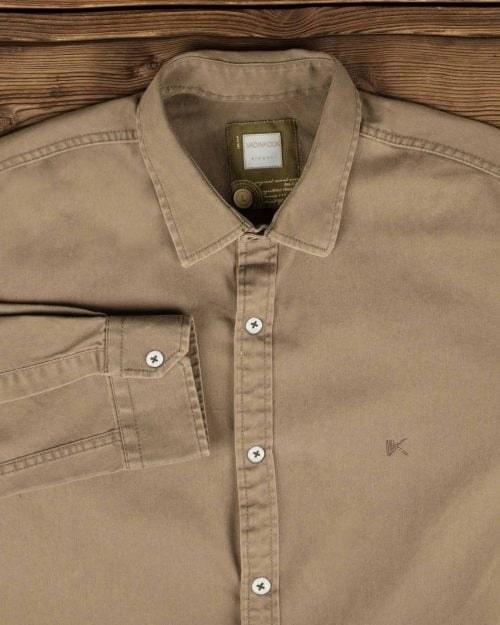 پیراهن کتان مردانه ساده |