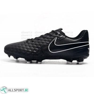 کفش فوتبال نایک تمپو لجند طرح اصلی مشکی Nike Tiempo Legend VIII DF FG Black White