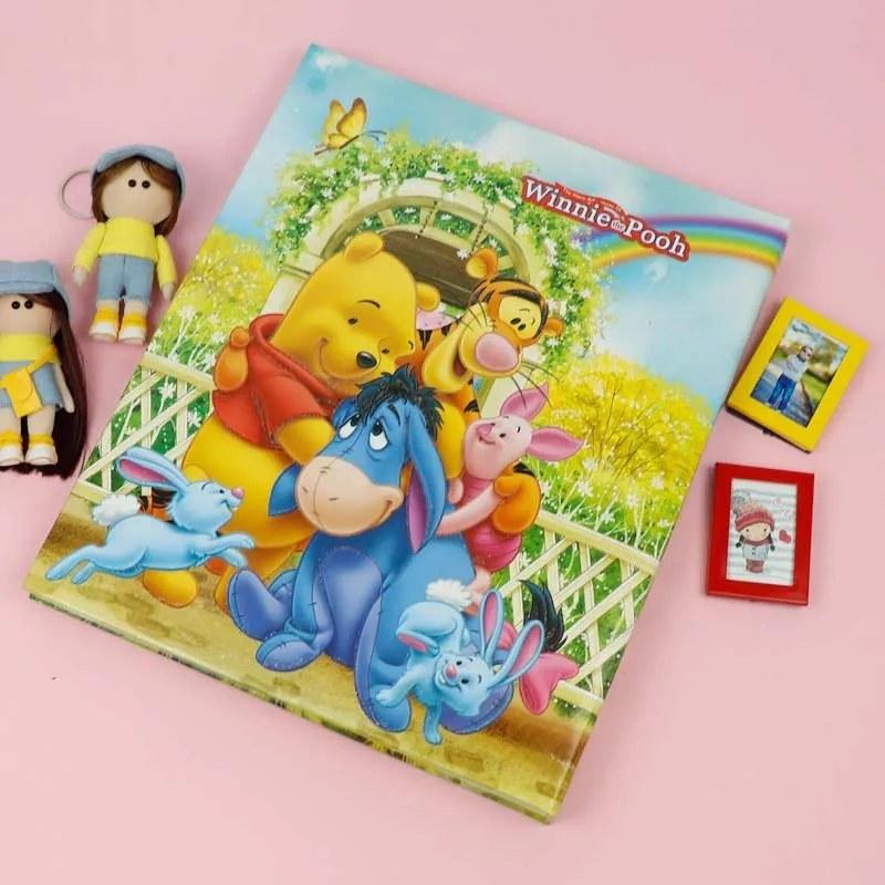 تصویر آلبوم عکس چسبی شجره کودک طرح POOH
