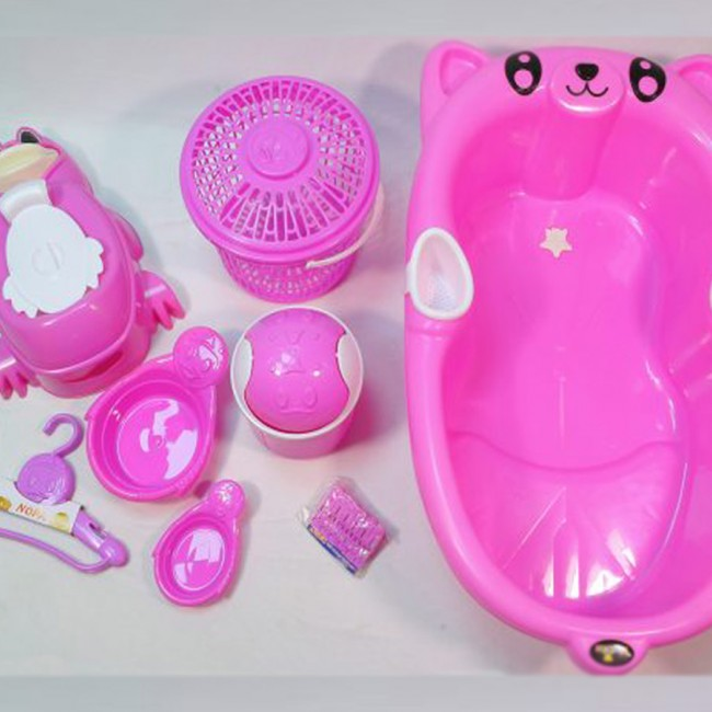 مدل پاندا | سرویس پلاستیک ۸ پارچه وان حمام