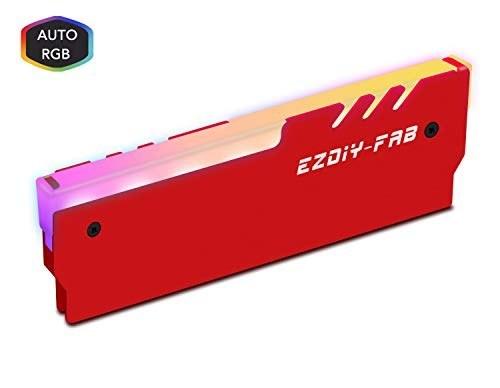 عکس خنک کننده جارو برقی EZDIY-FAB RGB DDR حافظه رم EZDIY-FAB RGB DDR Memory RAM Cooler Heat Sink Cooling Vest Fin Radiation Dissipate for DIY PC Game Overclocking MOD DDR3 DDR4 Red-1 Pack خنک-کننده-جارو-برقی-ezdiy-fab-rgb-ddr-حافظه-رم