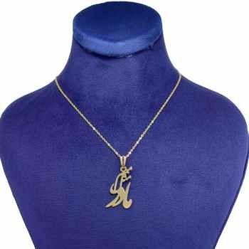 گردنبند طلا 18 عیار زنانه کانیار گالری طرح مادر کد 1290