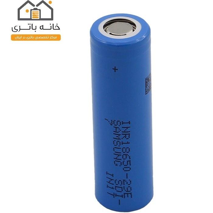تصویر باتری لیتیوم 18650 شارژی 3.7 ولت 2850 میلی آمپر 29E سامسونگ Samsung