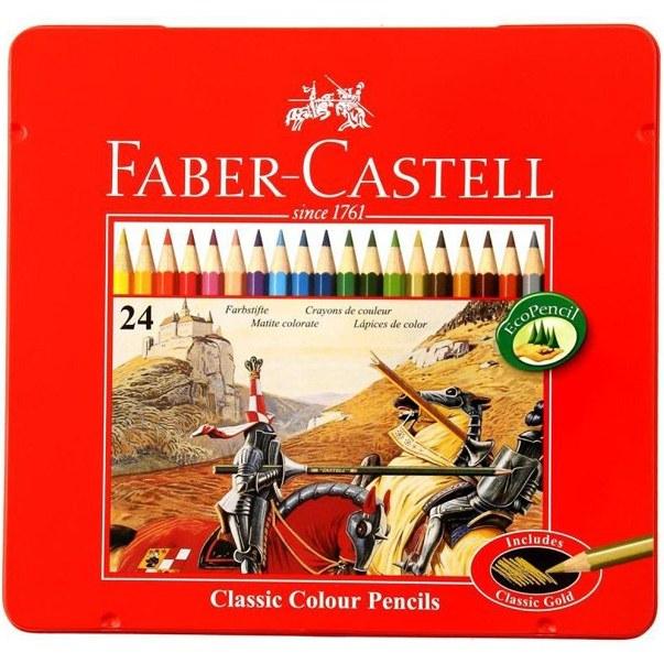مداد رنگی 24 رنگ فابر-کاستل مدل Classic |