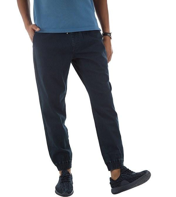 شلوار مردانه جین دمپا کشی سرمه ای جین وست Jeanswest