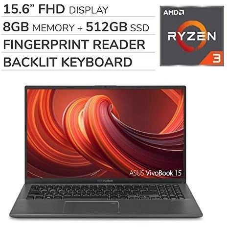 عکس ASUS VivoBook 2019 Premium 15.6 '' FHD Laptop Computer، 4-Core AMD Ryzen 3 3200U 2.6GHz ، 8 گیگابایت رم ، 512 گیگابایت SSD ، بدون دی وی دی ، صفحه کلید با نور پس زمینه ، Wi-Fi ، بلوتوث ، وب کم ، HDMI ، ویندوز 10 صفحه اصلی S  asus-vivobook-2019-premium-156-and-39-and-39-fhd-laptop-computer-4-core-amd-ryzen-3-3200u-26ghz-8-گیگابایت-رم-512-گیگابایت-ssd-بدون-دی-وی-دی-صفحه-کلید-با-نور-پس-زمینه-wi-fi-بلوتوث-وب-کم-hdmi-ویندوز-10-صفحه-اصلی-s