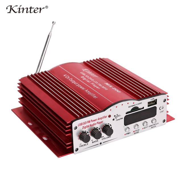 تصویر آمپلی فایر 4 کاناله کینتر مدل 4channel 12v car audio amplifier with USB/SD/FM kinter MA-200