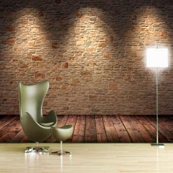 پوستر دیواری سه بعدی طرح آجر کد 85005817 |