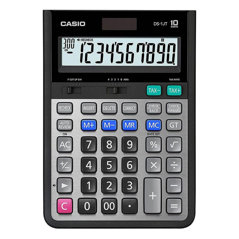 تصویر ماشین حساب کاسیو مدل DS-1JT Casio DS-1JT Calculator
