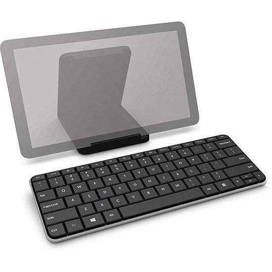 تصویر کیبورد مایکروسافت همراه با کاور Microsoft Wedge Mobile Keyboard U6R-00001