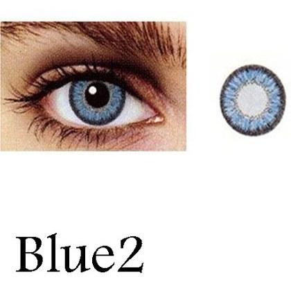 تصویر لنز رنگی چشم آبی آسمانی لاکی لوک مدل  Blue 2