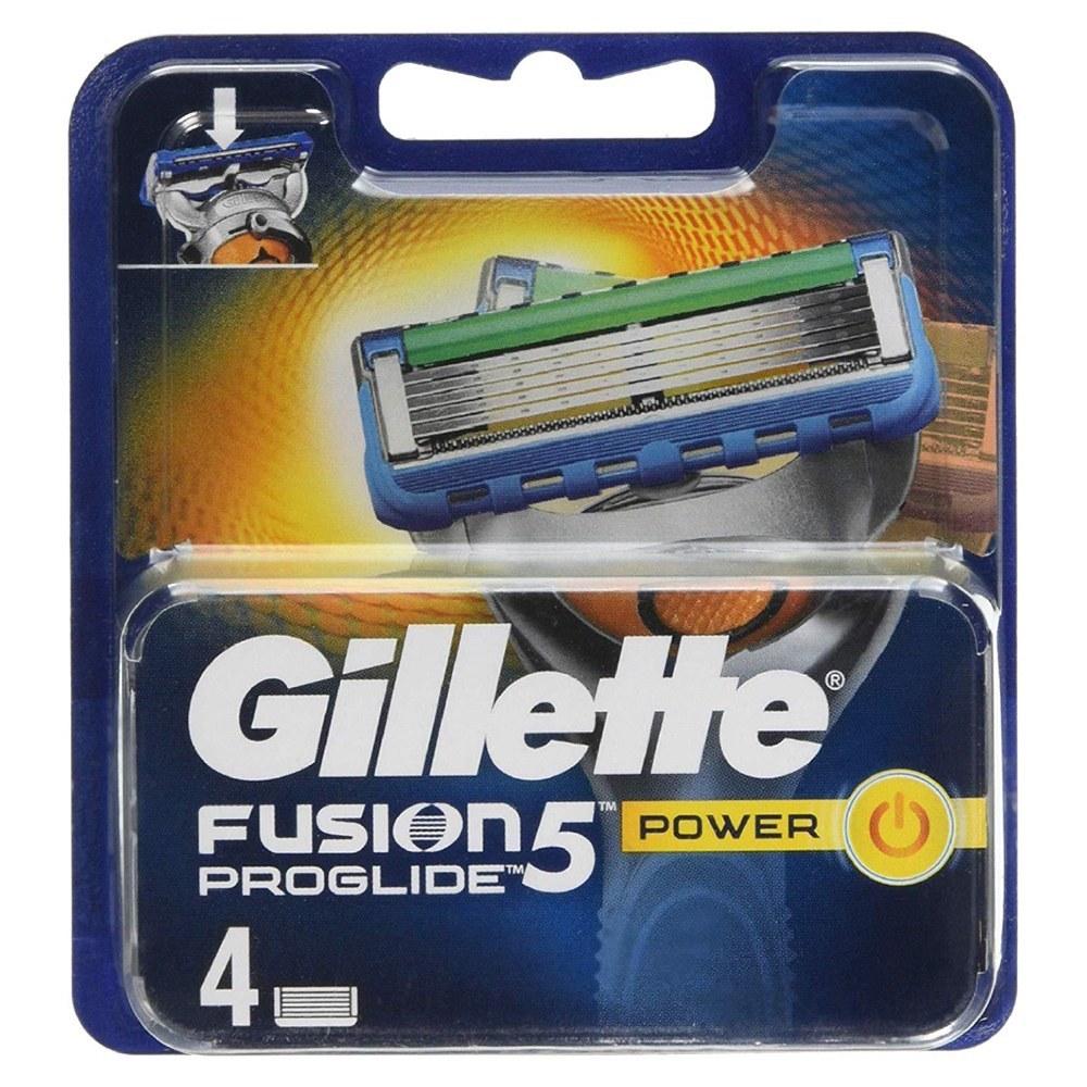تصویر یدک فیوژن پروگلاید پاور ژیلت 4عددی Gillette Fusion Proglide Power Cartridges 4pcs