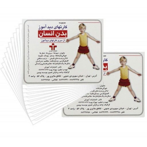 کارت های دید آموز اعضای بدن(بدن انسان)  