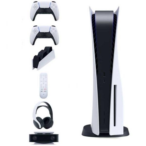 تصویر باندل کنسول بازی سونی PlayStation 5 Standard پلی استیشن ۵ استاندارد + به همراه تمام لوازم جانبی