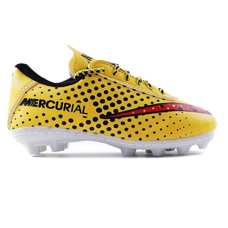 تصویر کفش فوتبال بچه گانه طرح نایکی زرد/مشکی