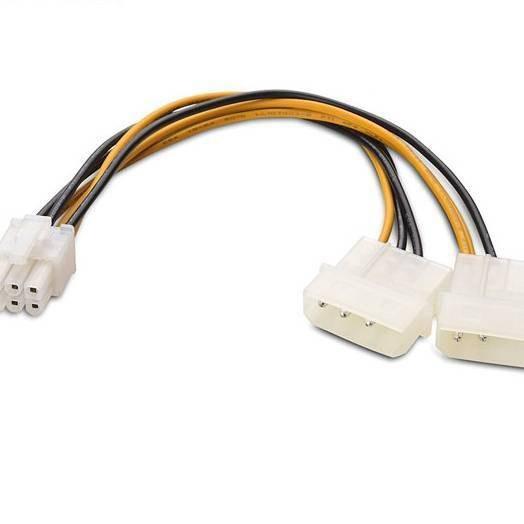 تصویر کابل تبدیل 4 پین به 6 پین برق گرافیک 4 pin to 6 pin grafic cable switch