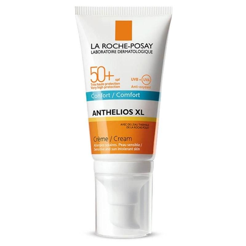 کرم ضد آفتاب بی رنگ معطر لاروش پوزای مدل +Anthelios XL Comfort SPF50 مناسب پوست نرمال تا خشک حجم 50میل
