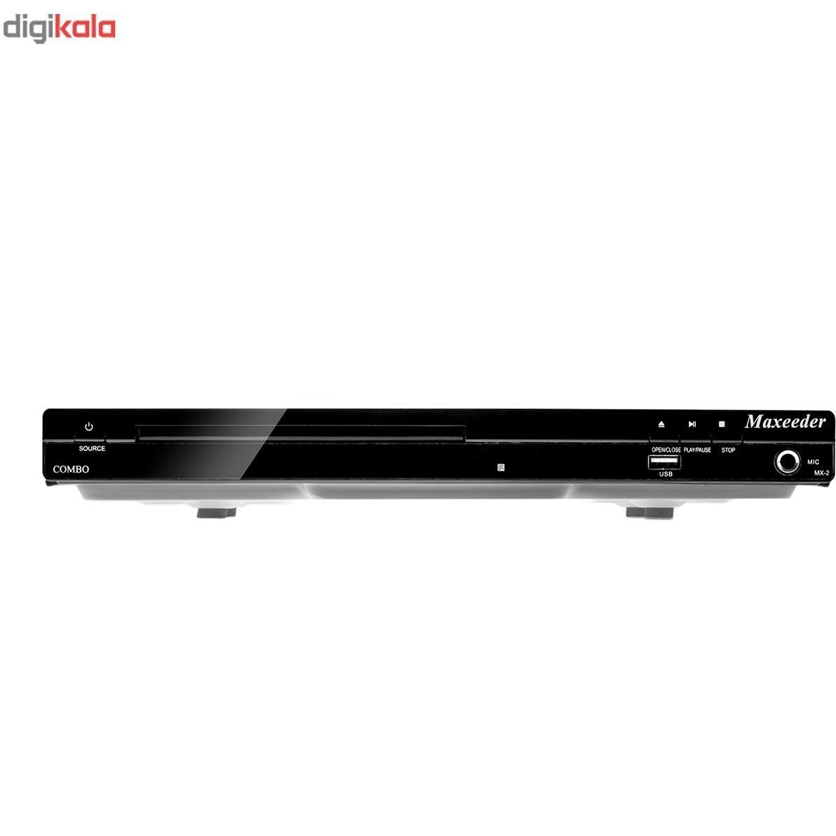 تصویر گیرنده دیجیتال و پخش کننده دی وی دی مکسیدر مدل MX-2 Combo Maxeeder MX-2 Combo DVB-T2 And DVD Player