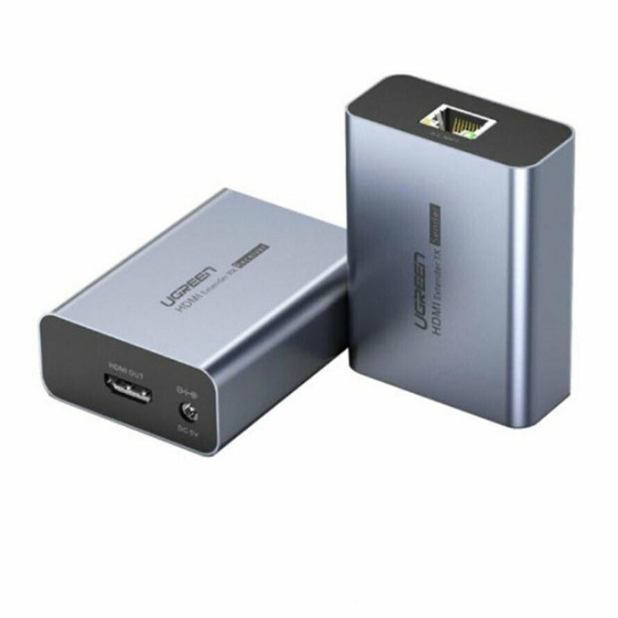 تصویر افزایش دهنده HDMI بر روی کابل شبکه یوگرین CM196 Ugreen CM196 HDMI On the LAN Cable 50m Slim Extender