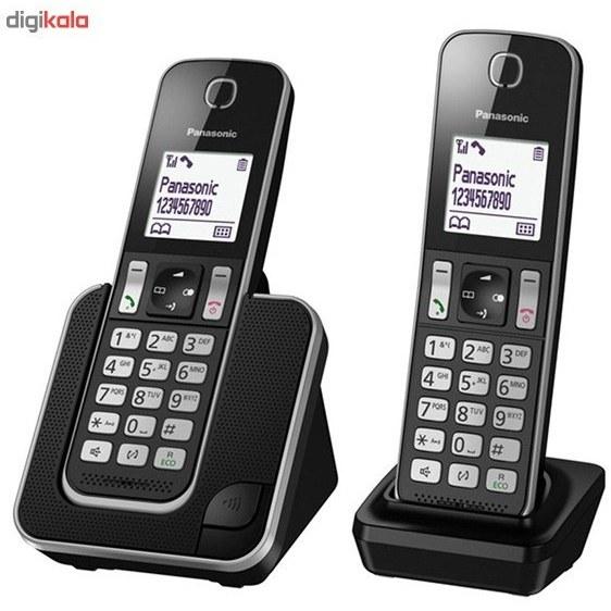 تصویر تلفن بی سیم پاناسونیک Panasonic KX-TGD312BX Cordless Phone Black ا تلفن بی سیم پاناسونیک Panasonic KX-TGD312BX Cordless Phone Black تلفن بی سیم پاناسونیک Panasonic KX-TGD312BX Cordless Phone Black