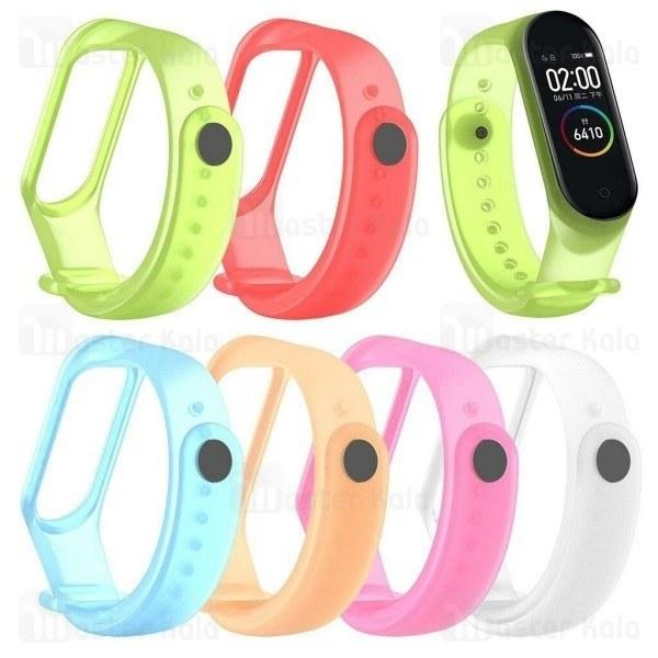 بند سیلیکونی دستبند سلامتی شیائومی Xiaomi Mi Band 4 Transparent Silicone Band شفاف |