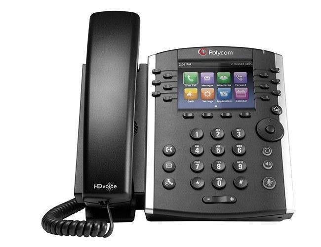 تصویر تلفن VoIP پلی کام  مدل VVX 411 تحت شبکه