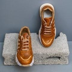 تصویر کفش ورزشی دخترانه عسلی مدل Teresa