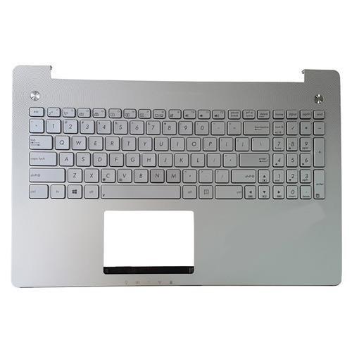 تصویر کیبرد لپ تاپ ایسوس N550 نقره ای-با قاب C-با بک لایت Keyboard Laptop Asus N550 With Frame C_Backlighte
