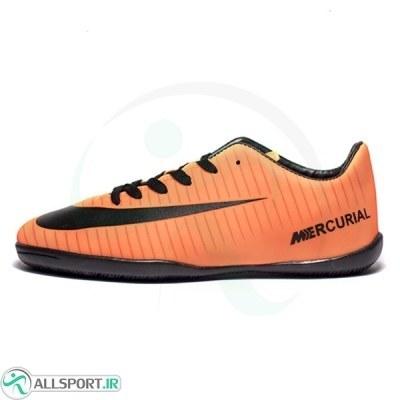 کفش فوتسال سایز کوچک طرح اصلی نایک مرکوریال نارنجی مشکی Nike Mercurial 2018