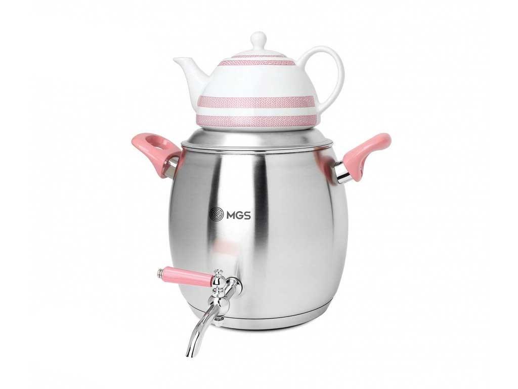 main images ست کتری و قوری ام جی اس مدل Aysan کد 1610 MGS Aysan 1610 Kettle and Teapot Set