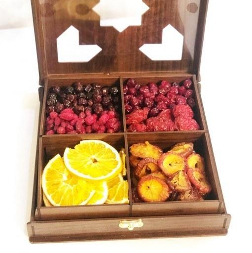 پک میوه خشک (پرتقال و آلو) و تر (تُرُش)  