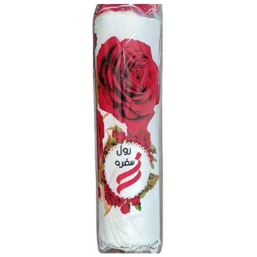 تصویر سفره یکبار مصرف طرح گل رز