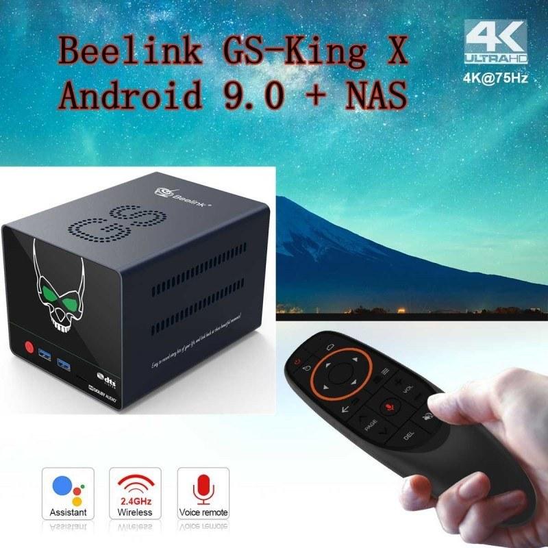 تصویر اندروید باکس BeelinkمدلGS-King-X  با CPU  S922X-H و حافظه داخلی 64 و رم 4 قیمت   به شرط خرید تیمی