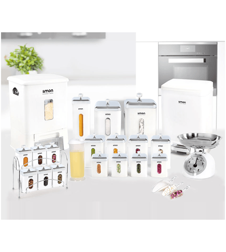 تصویر سرویس آشپزخانه چهارگوش ۲۲ پارچه لیمون Limon کد ۱۶۷۴