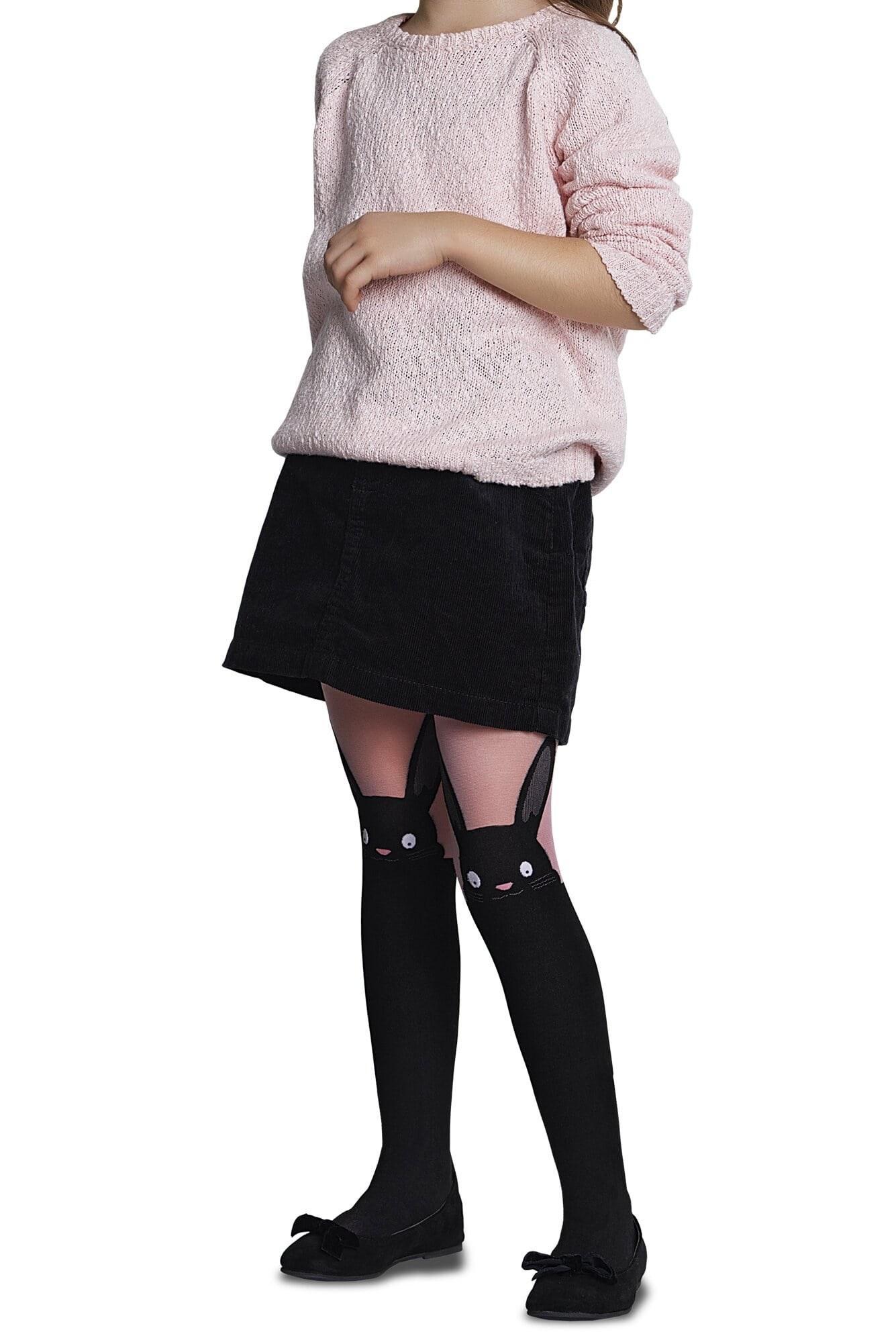 جوراب شلواری طرحدار دخترانه پنتی Bunny صورتی  