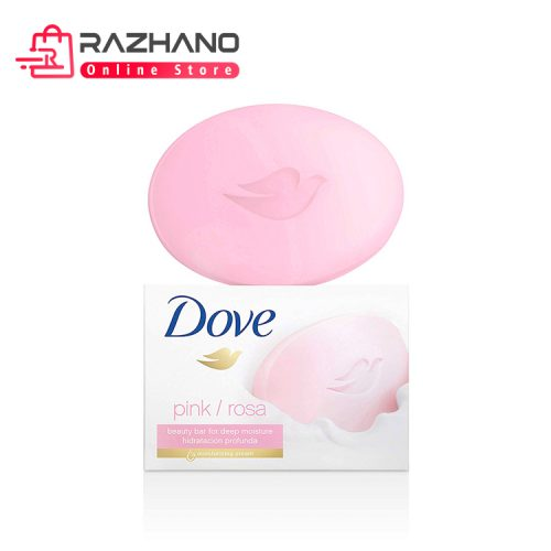 صابون داو صورتی Dove Pink با رایحه گل رز مقدار ۱۳۵ گرم  