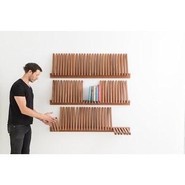 کتابخانه چوبی طرح پیانو |