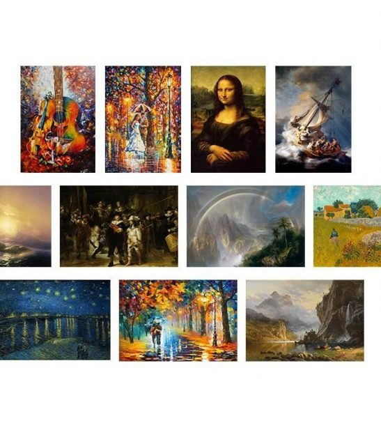 تابلو شاسی گالری هنری پیکاسو طرح معروفترین نقاشی های جهان مجموعه 11 عددی
