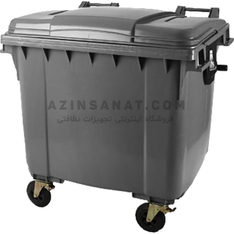 تصویر مخزن زباله پلی اتیلن 660 لیتری
