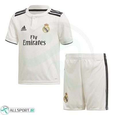 پیراهن شورت اول رئال مادرید Real Madrid 2018-19 Home Soccer Jersey Kit Shirt+Short